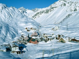 Austrian Ski Resort wallpapers and stock photos