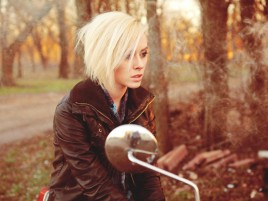 Blonde on Bike wallpapers and stock photos