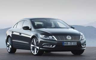 Grau Volkswagen CC Vorderwinkel wallpapers and stock photos