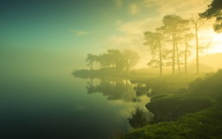 Sunrise Nature Fog & Sea wallpapers and stock photos