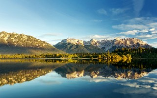 Sky Mountains Lake & Forest wallpapers and stock photos