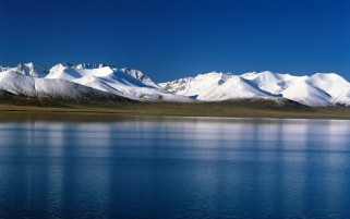 Snow Mountains Scenery & Lake wallpapers and stock photos