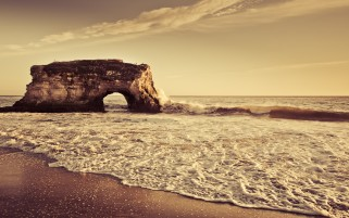 Ocean & Rock Sepia wallpapers and stock photos