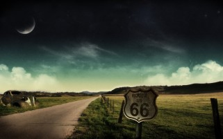 Random: Route 66 Car & Farm Fields
