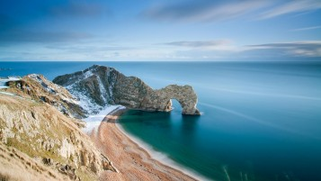 Durdle Door Coast Five wallpapers and stock photos