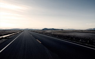 Wide Road Fields & Sky wallpapers and stock photos