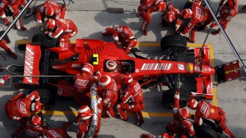 Ferrari Pit Crew wallpapers and stock photos