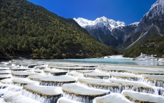 Water Terraces Mountain Bush wallpapers and stock photos