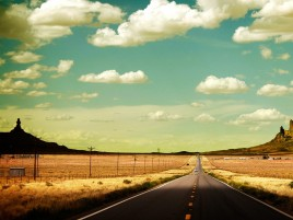 Clouds Desert Road Pole & Cars wallpapers and stock photos