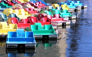 Paddle boats wallpapers and stock photos