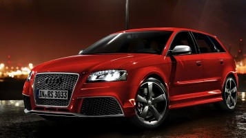 Red Audi RS3 Sportback Night Photo wallpapers and stock photos