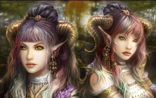 Elf Sisters wallpapers and stock photos