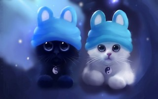 Sweet Kittens Caps wallpapers and stock photos