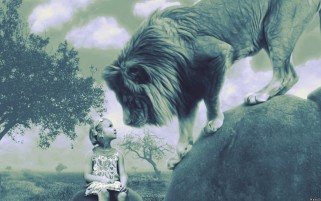 Random: Children & Lion
