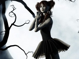 Children Ballerina Dark Art wallpapers and stock photos