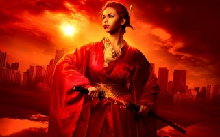 Previous: Woman Red Kimono & Sword