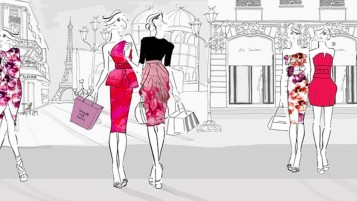 Woman City Shopping wallpapers and stock photos