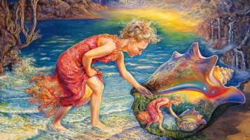Child Ocean Shell Fantasy wallpapers and stock photos