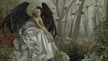 Dark Angel White Dress wallpapers and stock photos