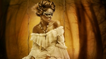 Woman Mystery Masquerade wallpapers and stock photos