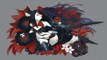 Random: Black Lady Flowers & Birds