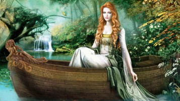 Woman Red Hair Ship & Nature wallpapers and stock photos