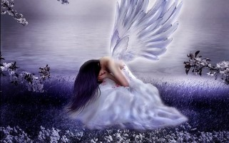 Sad Angel Purple wallpapers and stock photos