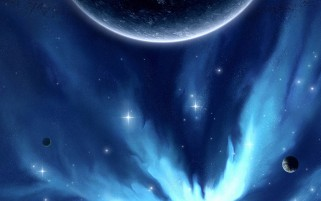 Planet Blue Space & Stars wallpapers and stock photos