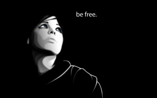 Woman Darkness Be Free wallpapers and stock photos
