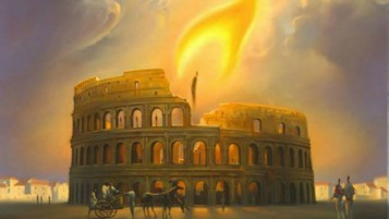 Colosseum Rome Candle Light wallpapers and stock photos
