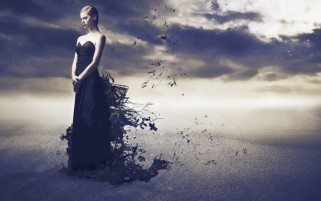 Random: Woman Black Dress Photo Manip