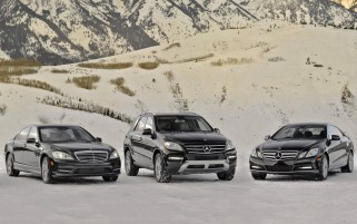 Mercedes-Benz Trio wallpapers and stock photos