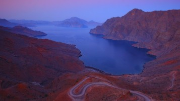 Mountains Lake Roads Arabian wallpapers and stock photos