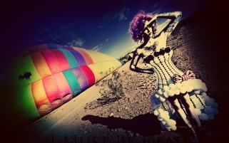 Random: Multi Color Woman & Parachute