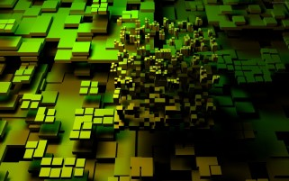 Green Cubes Multi Color wallpapers and stock photos