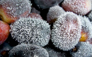Random: Frozen grapes