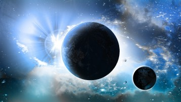 Galaxy Planets Sun Stars wallpapers and stock photos