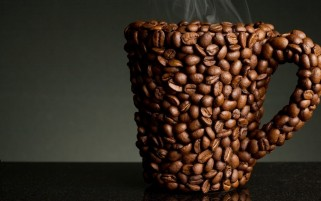 Random: Abstract Coffee Beans Cup