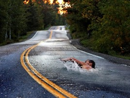 People Swimming Road Fantasy wallpapers and stock photos