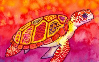 Sea Turtle Pintura wallpapers and stock photos