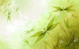 Abstract Leaves Green wallpapers and stock photos