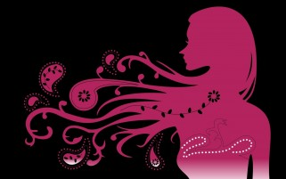 Woman Pink Pattern Hair wallpapers and stock photos