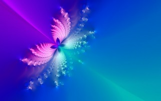 Blue & Pink Butterfly Abstract wallpapers and stock photos