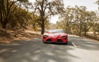 2014 Toyota FT-1 Concept Front Motion wallpapers and stock photos
