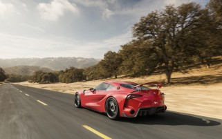 2014 Toyota FT-1 Concept Rear Angle Motion wallpapers and stock photos