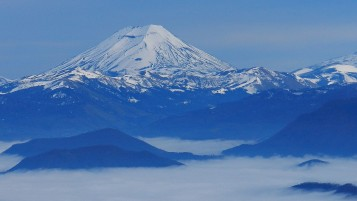 Mountains Snow Fog Chile wallpapers and stock photos