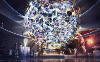 Random: Abstract Galaxy Museum Spheres