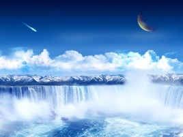 Clear Waterfall Planet Sky wallpapers and stock photos