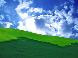 Random: Grass Green Hill & Cloudy Sky