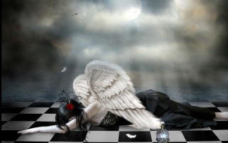 Dark Angel Sadness wallpapers and stock photos